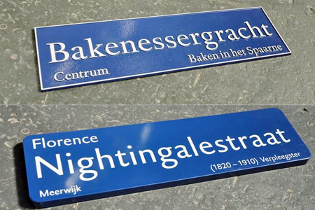 DTL Haarlemmer used for street signs city of Haarlem